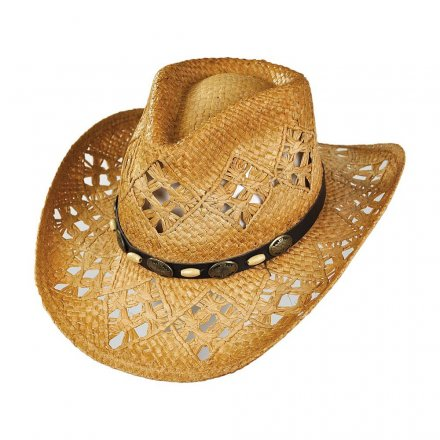 Hats - Annie Oakley Raffia Cowboy Hat (natural)
