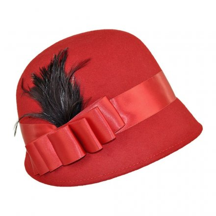 Hats - Chloe Cloche (red)