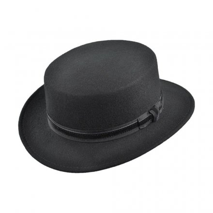 Hats - Bernadette Boater Hat (black)