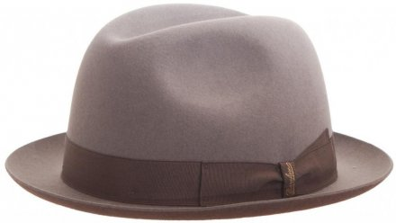 Hats - Borsalino Marengo Narrow Brim Fedora (light grey)