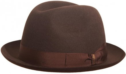 Hats - Borsalino Marengo Narrow Brim Fedora (brown)