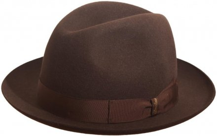 Hats - Borsalino Marengo Medium Brim Fedora (brown)