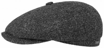 Flat cap - Stetson Hatteras Wool Rough (anthracite)
