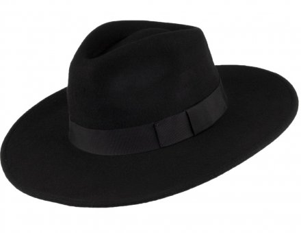 Hats - Jaxon The Author Wide Brim Fedora Hat (black)