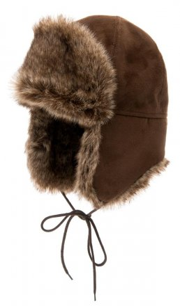 Trapper hat - CTH Ericson Esbjörn Faux Suede (brown)