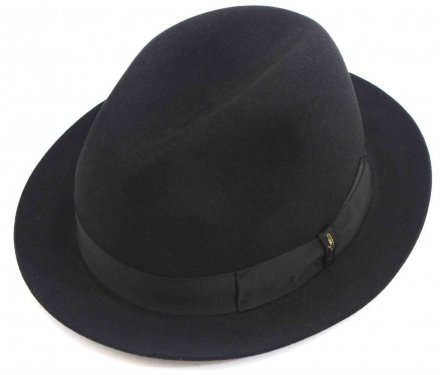 Hats - Borsalino Marengo Narrow Brim Fedora (black)
