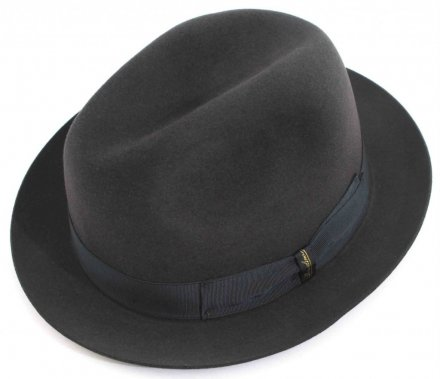 Hats - Borsalino Marengo Narrow Brim Fedora (grey)