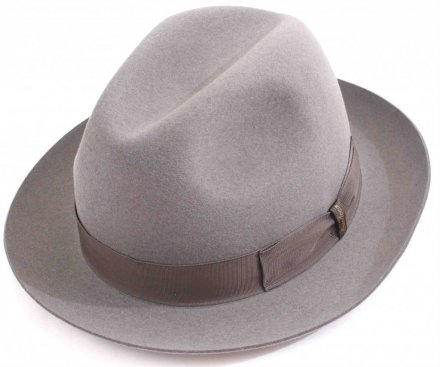 Hats - Borsalino Marengo Medium Brim Fedora (light grey)