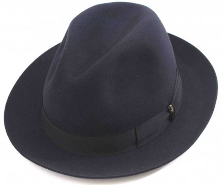 Hats - Borsalino Marengo Medium Brim Fedora (navy blue)