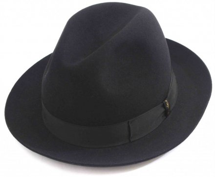 Hats - Borsalino Marengo Medium Brim Fedora (black)