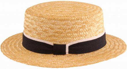 Hats - Gårda Capri Boater Blue/White Band (natural)