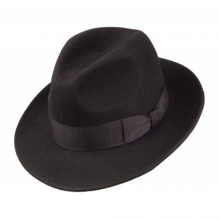Hats - Crushable Pinch Crown Fedora (black)