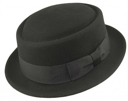 Hats - Crushable Pork Pie (black)