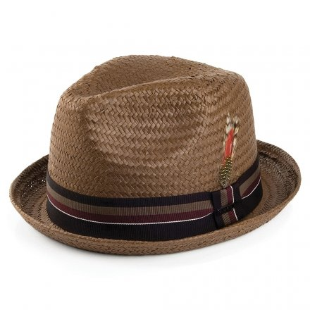 Hats - Jaxon Tribeca Straw Trilby (brown)