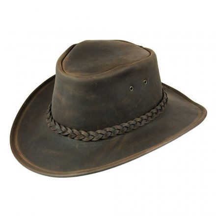 Hats - Jaxon Hats Crushable Leather Outback (brown)