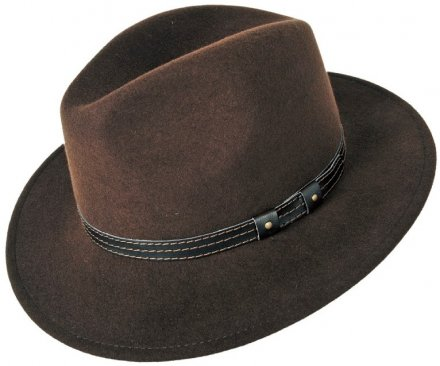 Hats - Faustmann Lavello Pinch Crown (brown)