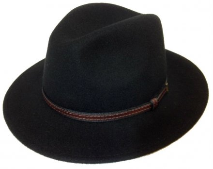 Hats - Faustmann Lavello Pinch Crown (black)