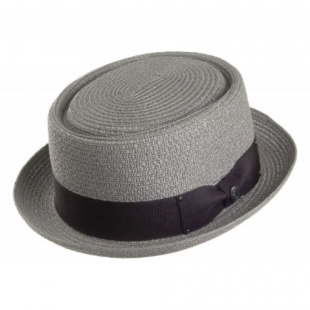 Hats - Toyo Braided Pork Pie (grey)