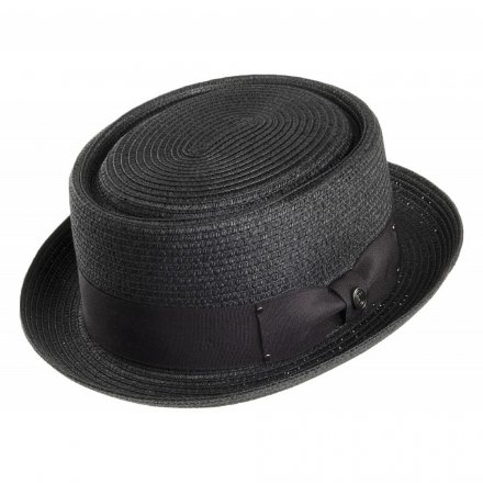 Hats - Toyo Braided Pork Pie (black)