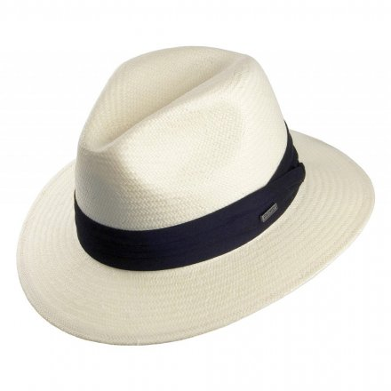 Hats - Toyo Safari Fedora With Black Band (white)