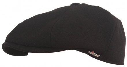 Flat cap - Wigéns Contemporary Newsboy Cap (black)