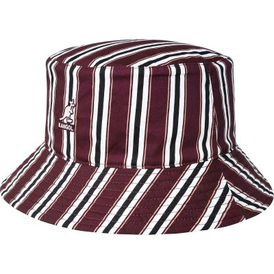 Hats - Kangol Double Pattern Bucket (red-black-white)