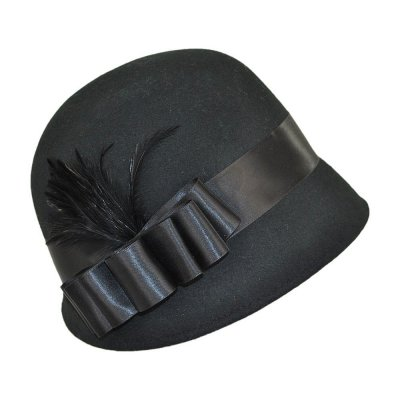 Hats - Chloe Cloche (black)