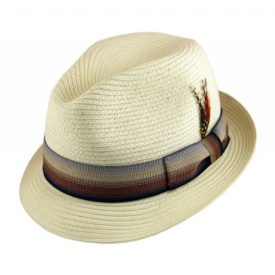 Hats - Summer Blues Trilby (white)