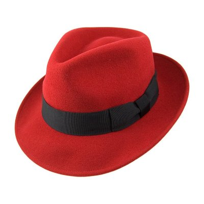 Hats - Pachuco Fedora (red)