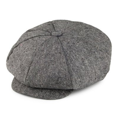Flat cap - Jaxon Hats Marl Tweed Big Apple Cap (grey)