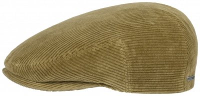 Flat cap - Stetson Kent Cord (light brown)