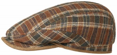 Flat cap - Stetson Belfast Silk/Linen Exclusive (brown-blue)