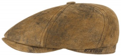 Flat cap - Stetson Brooklin Leather (brown)