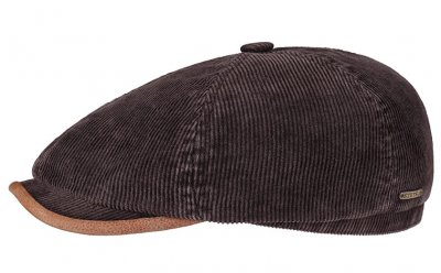 Flat cap - Stetson Oregon Corduroy (brown)