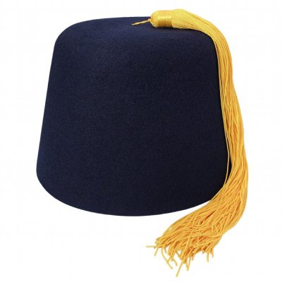 Fez - Navyblue Fez with gold tassel