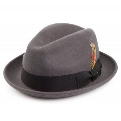 Hats - Crushable Blues Trilby (grey)