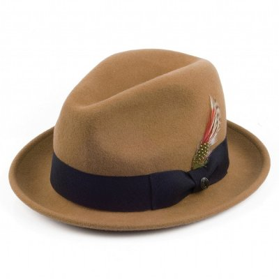 Hats - Crushable Blues Trilby (light brown)