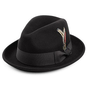 Hats - Crushable Blues Trilby (black)