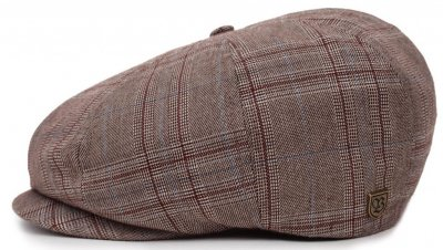 Flat cap - Brixton Brood (taupe plaid)