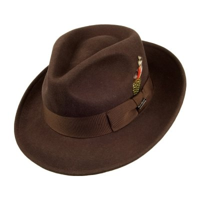 Hats - Crushable C-Crown Fedora (brown)