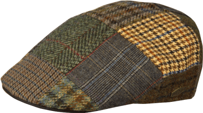 Flat cap - MJM Country Patchwork (brown mix)