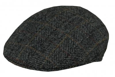 Flat cap - MJM Country Harris Tweed (grey)
