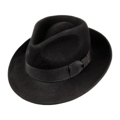 Hats - Crushable C-Crown Fedora (black)
