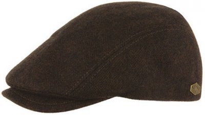 Flat cap - MJM Daffy Eco Merino Wool (brown)