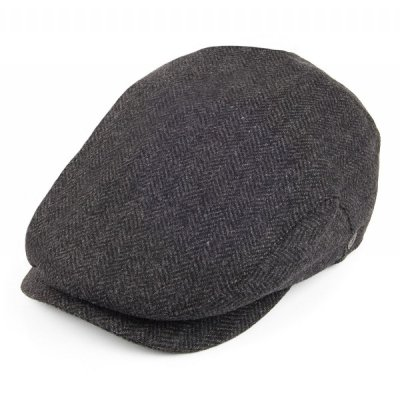 Flat cap - Jaxon Herringbone Extended Bill (dark grey)