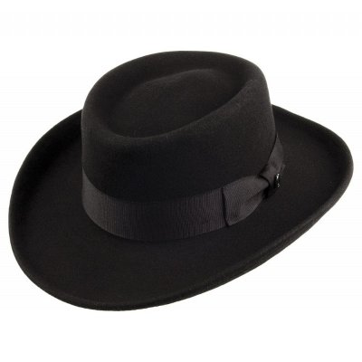 Hats - Crushable Wool Gambler (black)