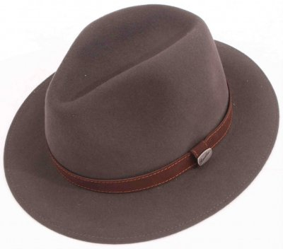 Hats - Borsalino Alessandria Leather Band Fedora (grey)