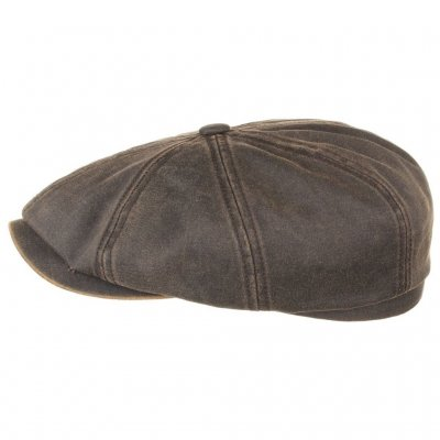 Flat cap - Stetson Hatteras Old Newsboy Cap (brown)