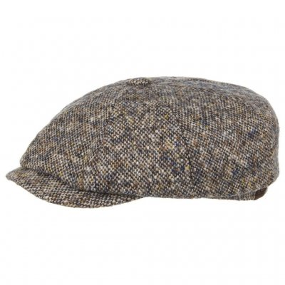 Flat cap - Stetson Hatteras Donegal Tweed (blue mix)