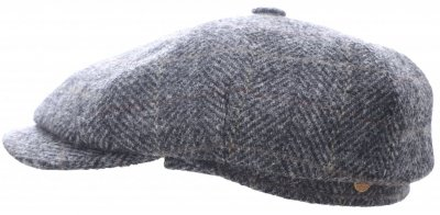 Flat cap - Mayser Seven Plus Harris Tweed (grey)